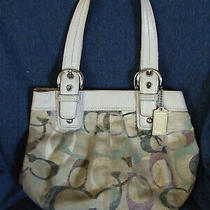 Coach Classic C Large Double Handle Bag Material and Leather a-1149-F16591 Used Photo