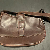 Coach Classic Hampton Leather Hobo Shoulder Bag 7584 Medium Purse Dark Brown Photo