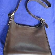 Coach Classic Legacy Zip Mahogany Brown Leather Hobo Bag 9966 Photo