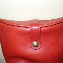 Coach Classics Rare Bucket-Style Bag -  Red Photo