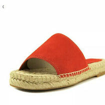 Coach Claudia Women's Suede Open Toe Casual Woven Slide Sandals Red Us 6.5 Nib Photo
