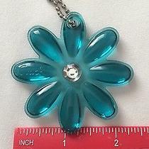 Coach Clear Flower Daisy Bag Hang Tag Key Chain Fob Charm Ring Photo