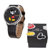 Coach Clock Ladies Watches With Genuine Box X Disney Collaboration Mickey Photo
