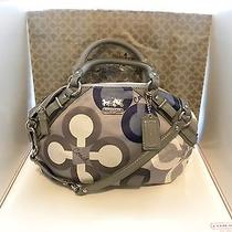 Coach Clover Sophia Multi-Color  Graphic Op Art Sig. Handbag / Purse  15946  Photo
