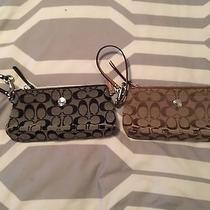 Coach Clutch Brown and Black 2 Items 100% Authentic Photo