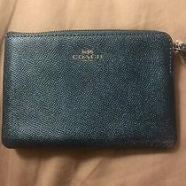 Coach Clutch - Metallic Teal Photo