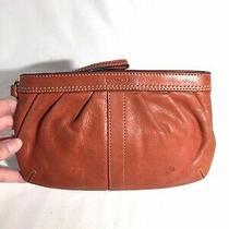 Coach Clutch Purse Wallet Orange Photo