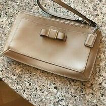 Coach Clutch Purse With Tiny Leather Bow and Hand Loop-Coach Chain Tag Photo