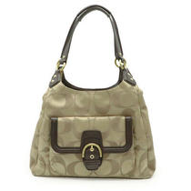Coach Coach Campbell Signature Hobo Tote Bag Shoulder Tote Canvas Leather (960 Photo