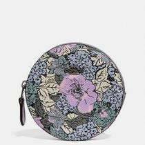 Coach Coated Canvas Heritage Round Zip Case Multi Floral Heritage Print Bag New Photo