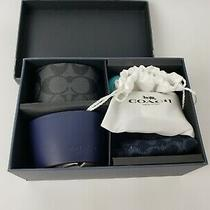 Coach Coffee Sleeve and Sock Gift Set Blue. With Bracelet and Ring Included.  Photo