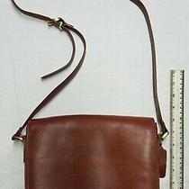 Coach Cognac Brown Leather Purse Handbag Shoulder Tote W/ Keychain - Nice Photo