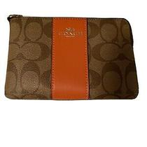 Coach Coin Purse Brown and Orange Photo