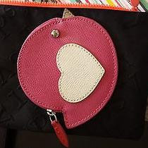 Coach Coin Purse - Hot Pink Bird With Heart Nwt Photo
