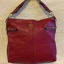 Coach Colette Magenta Leather Shoulder Bag Handbag Purse 16413 Photo