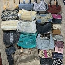 Coach Collection 26 Pc. Wholesale Purse Lot Used Bulk Rehab Resale Handbag B Photo