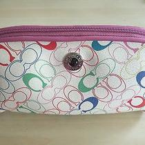 Coach Color Print Small Cosmetic Bag Photo