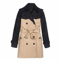 Coach Colorblock Trench Coat Women's Size Large 86035 Nwt Photo