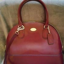 Coach Cora Domed Satchel in Patent Crossgrained Leather Photo