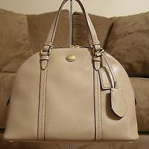 Coach Cora Domed Satchel - Nwt (Sand) F25671 Photo