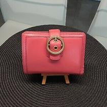 Coach Coral Pink Small Bifold Wallet Photo
