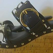 Coach Cork Wedge Sandals Size 7.5 Photo