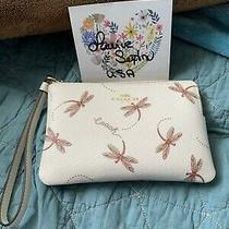 Coach Corner Zip Wristlet Dragonfly New Without Tags Photo
