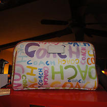 Coach  Cosmetic Bag in Multi  Beach Graffiti Pattern - Rare Photo