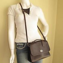 Coach Court Bag Vintage Mahogany Brown Glove Leather Classic Crossbody 9870 Exc Photo