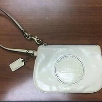 Coach Cream Patent Wristlet Photo