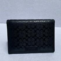 Coach Credit Card Holder  Black  Logo Patent Leather Photo