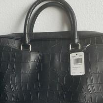 Coach Croc Embossed Leather Black Briefcase Laptop Bag. New W/ Tags. 650 Orig Photo