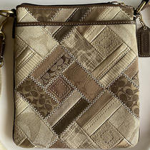 Coach Crossbody Bag Tan Brown Authentic Adjustable Strap Purse Handbag Photo