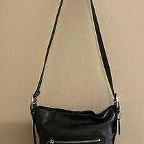 Coach Crossbody Handbag F10938 Smooth Black Leather Purse Messenger Bag Photo