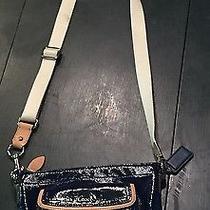 Coach Crossbody Patent Leather Blue Photo