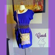 Coach Crossbody Purse in Lavender/purple Photo