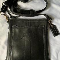 Coach Crossbody Shoulder Messenger Bagblack  Butter Leather Photo