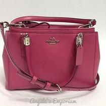Coach Crossgrain Leather Mini Christie Crossbody Bag F34797 Sunset Red Photo