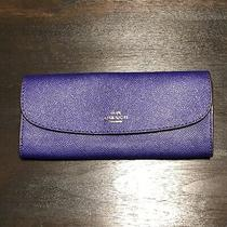 Coach Crossgrain Leather Soft Slim Wallet - F59949 Sv/uy Photo