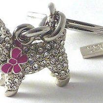Coach Crystal Pave Westi Terri Scottie Dog Key Fob Key Ring Charm New 92637 Photo