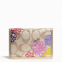 Coach Daisy Applique Card Case Style F63759 B4/multicolor Photo
