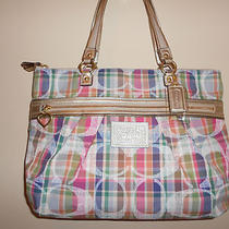 Coach Daisy  Madras Tote Bag Photo