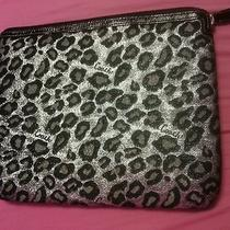 Coach Daisy Ocelot Computer / Laptop Sleeve Silver and Black Photo