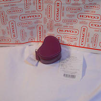 Coach Daisy Patent Leather Amethyst  Heart Jewelry Pouch With Mirror Nwt F67759 Photo