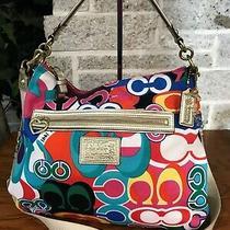 Coach Daisy Pop C 21362 Signature Hobo Purse Bag Handbag Shoulder Crossbody  Photo