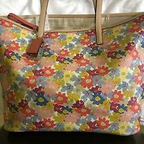 Coach Daisy Printed Coated Canvas Pebbled Tote 28908 Photo
