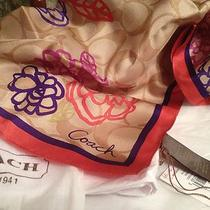 Coach Daisy Signature Applique Scarf Photo