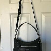 Coach Daisy Small Black Leather Satchel Shoulder or Crossbody Purse Excellent Photo