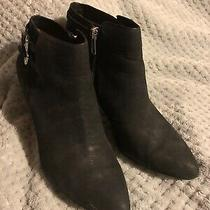 Coach Daphney Waxy Wsh Nubuck Leather Booties Size 7.5 - Black - Q5185 A6524 Photo