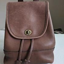 Coach Dark Brown Leather Mini Backpack  Much Loved Photo